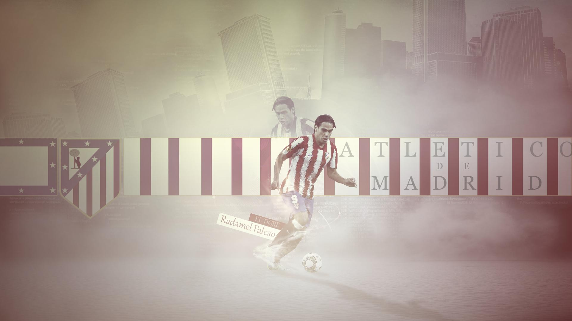 Radamel Falcao Club Atletico De Madrid 2013 Wallpaper 1920x1080