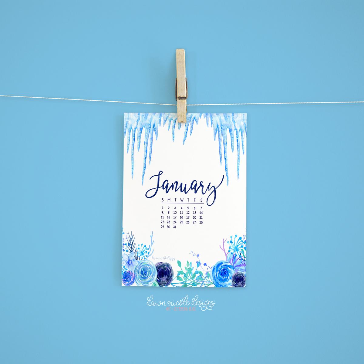 January 2017 Calendar Tech Pretties Dawn Nicole Designs 1200x1200