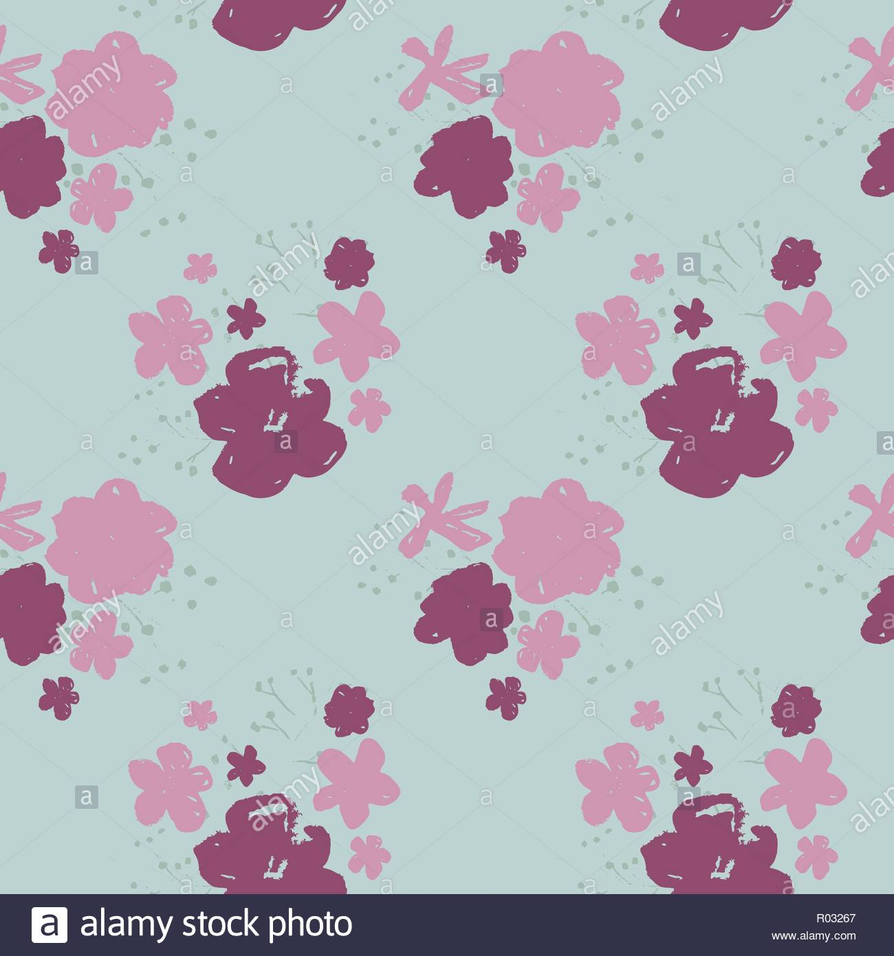 Sophisticated vector pink and burgundy floral seamless pattern on 1300x1390