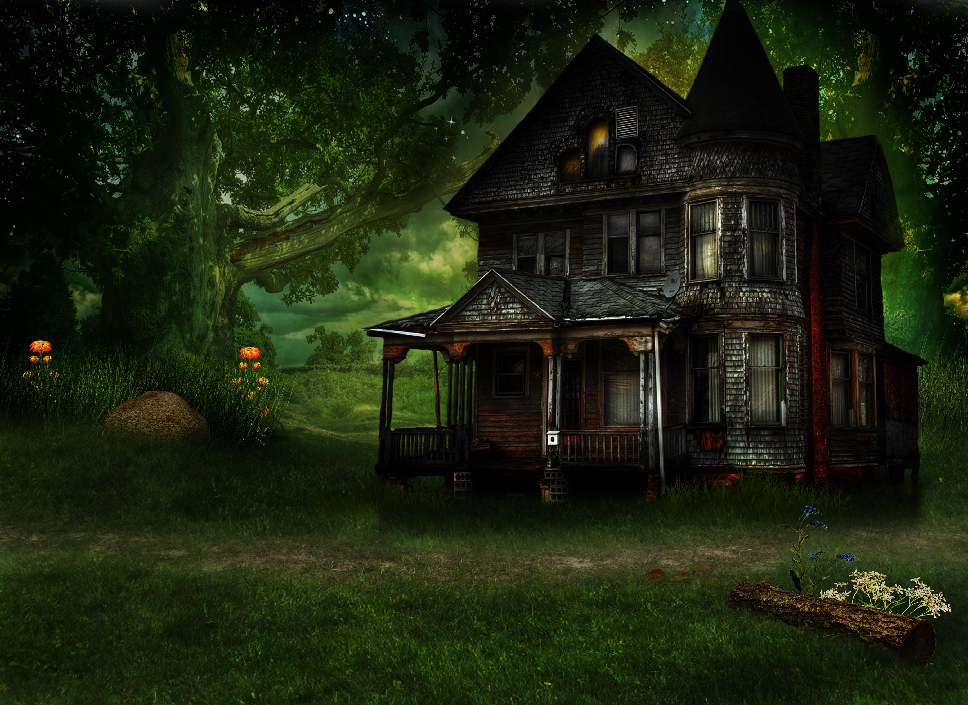 Haunted house hd wallpaper wallpapersafari for House photos hd