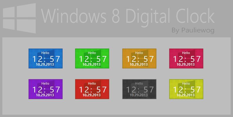 50+] Digital Clock Wallpaper Windows 8 on WallpaperSafari