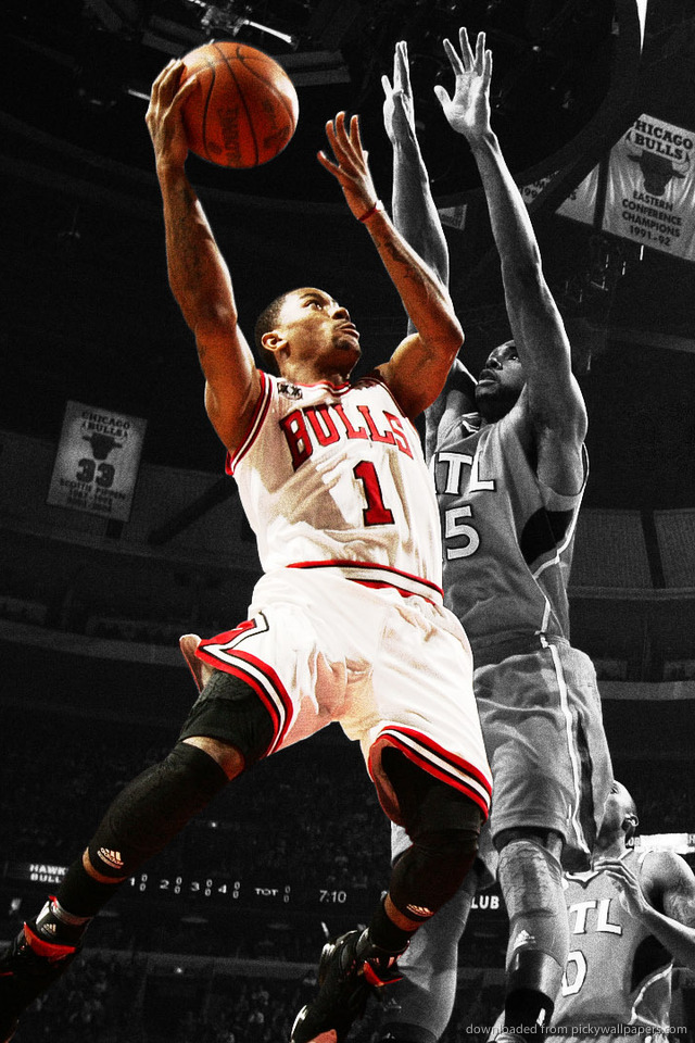 Download Derrick Rose Wallpaper For iPhone 4 640x960