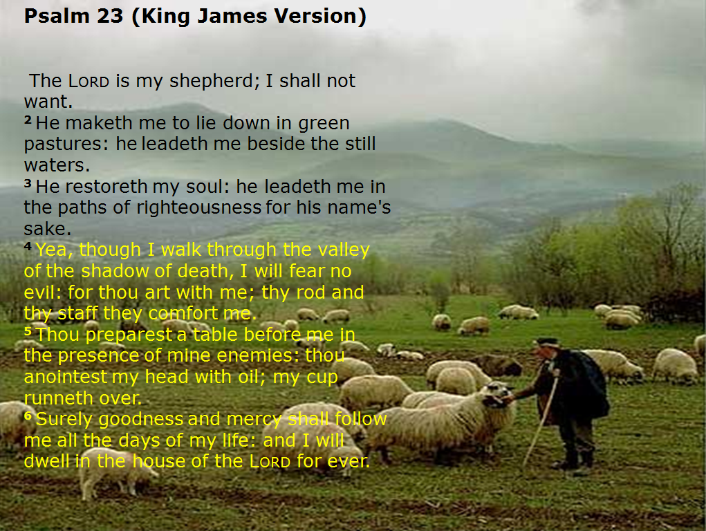 psalms 23 king james version1png 1021x768