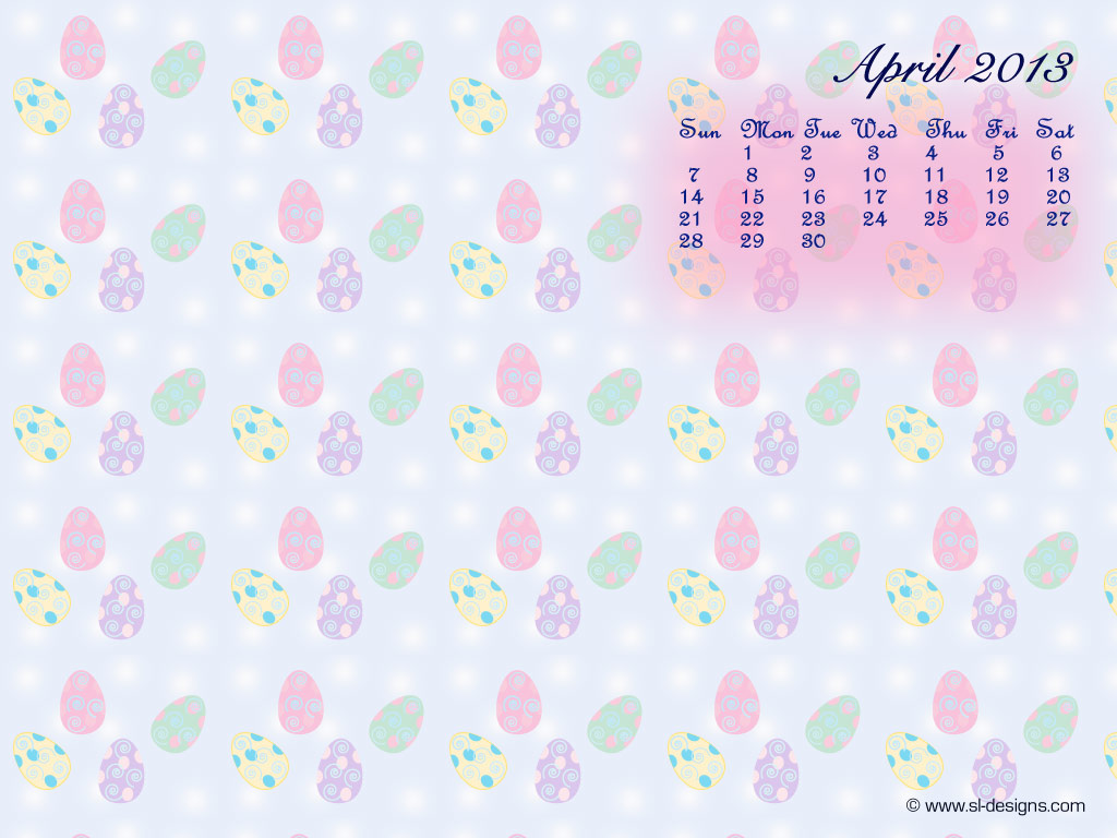 Desktop Wallpaper Calendar April 2011 1024x768
