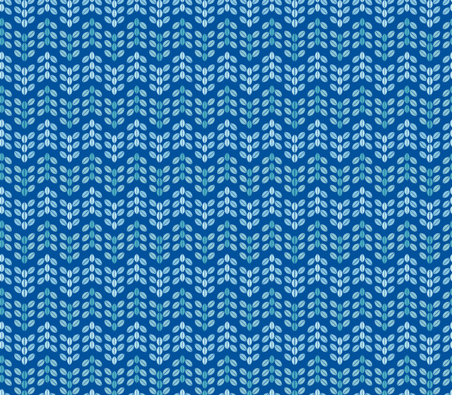 Zig Zag Leaf   Blue Wall Art   Contemporary   Wallpaper   by Murals 640x560