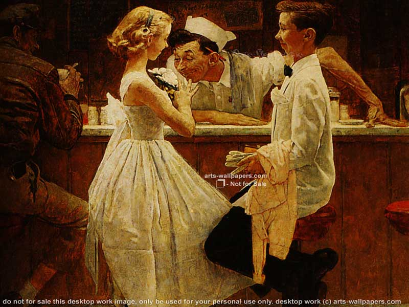 48 Norman Rockwell Thanksgiving Desktop Wallpaper On