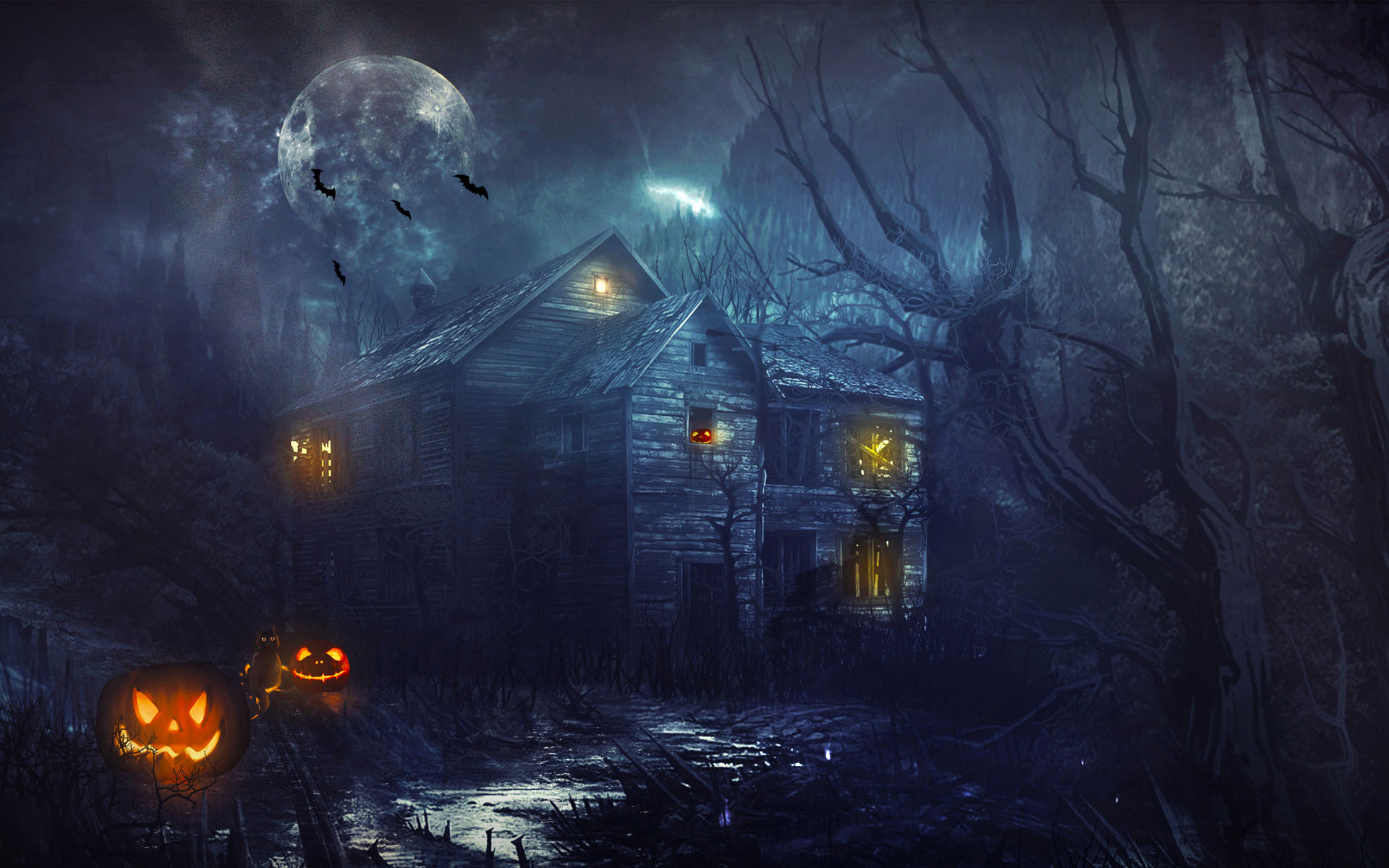 The scream wallpaper desktop wallpapersafari - Free widescreen halloween wallpaper ...