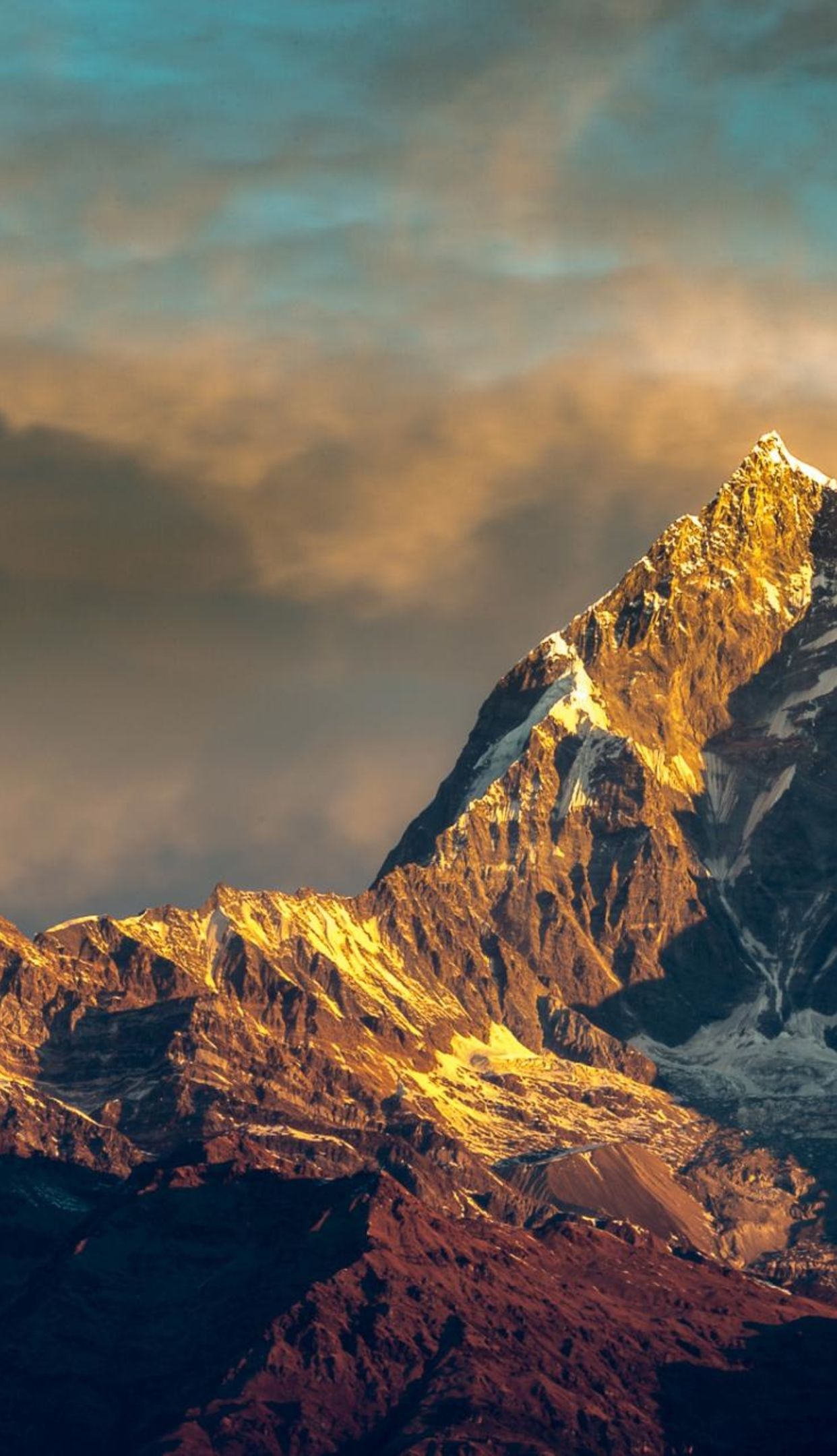 Mount Everest peak Nepal 1242x2208 4k HD wallpaper wallpprscom 1242x2160