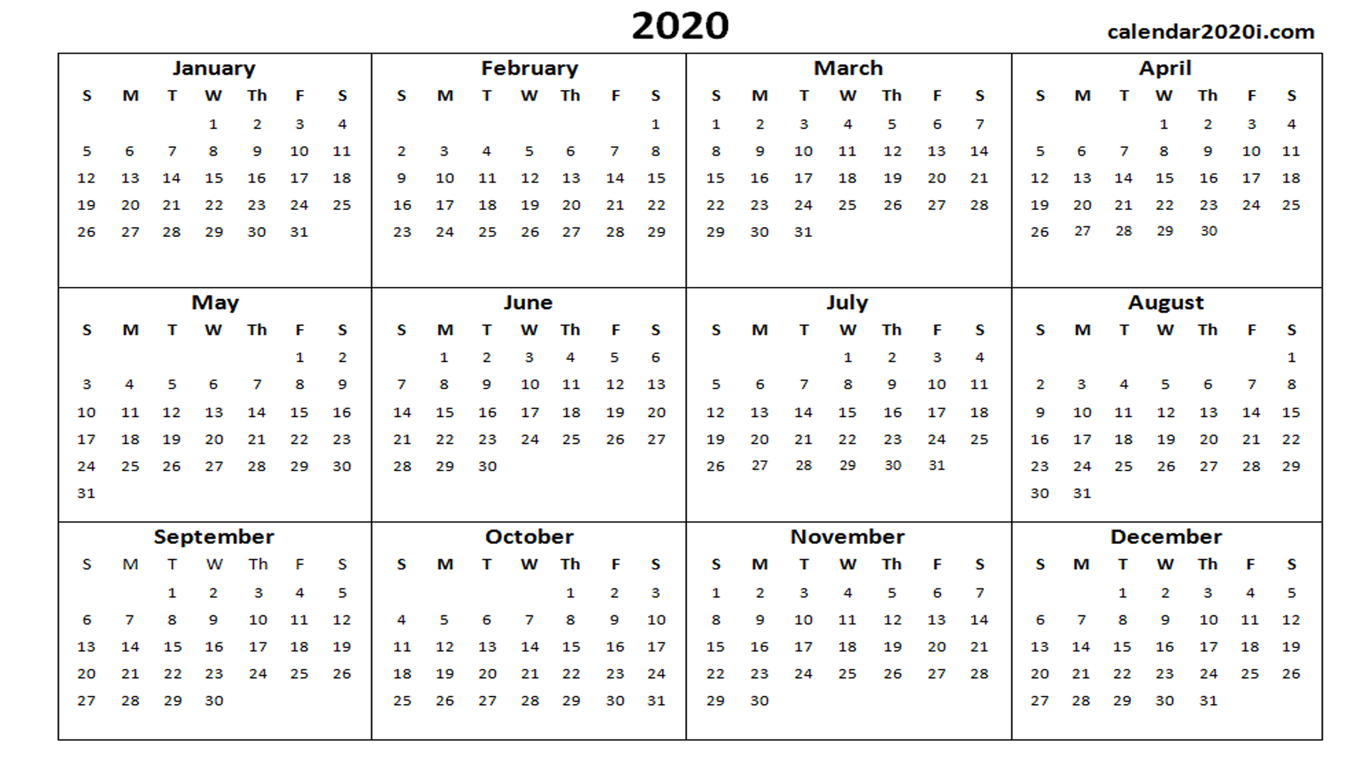 2020 Calendar Wallpapers   Top 2020 Calendar Backgrounds 1920x1080