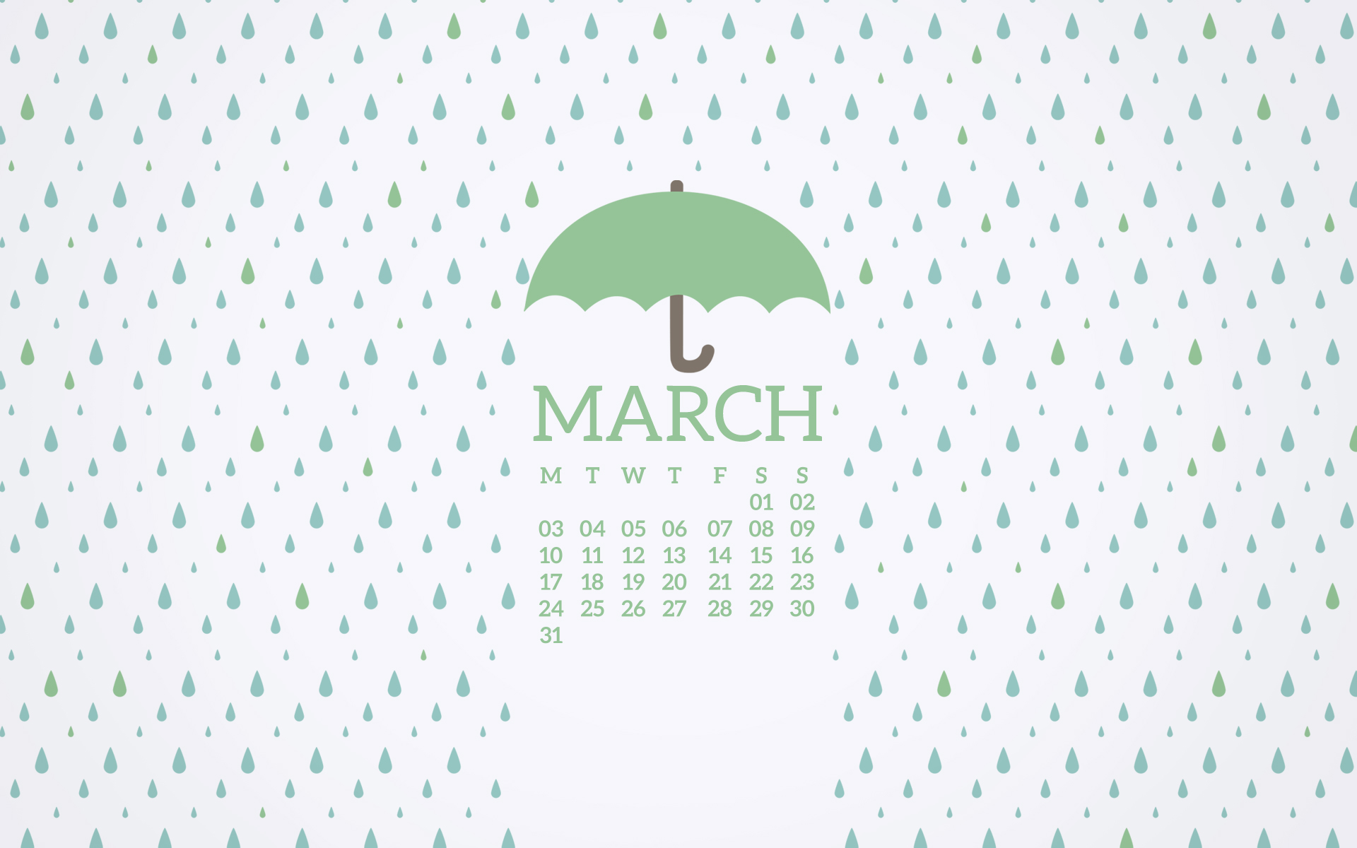 free rainy desktop wallpaper for march 2014
