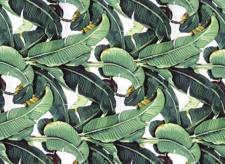 Wear Your Wallpaper Beverly Hills Hotel Banana Leaf Martinique 730x531
