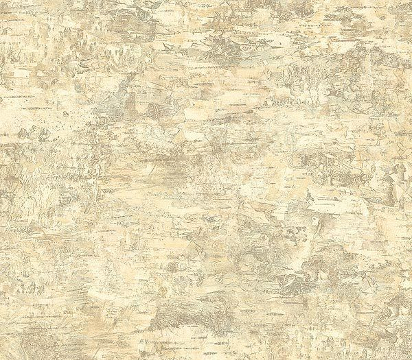 Brewster Island Grey Faux Grasscloth Wallpaper Fd23285: Birch Bark Wallpaper