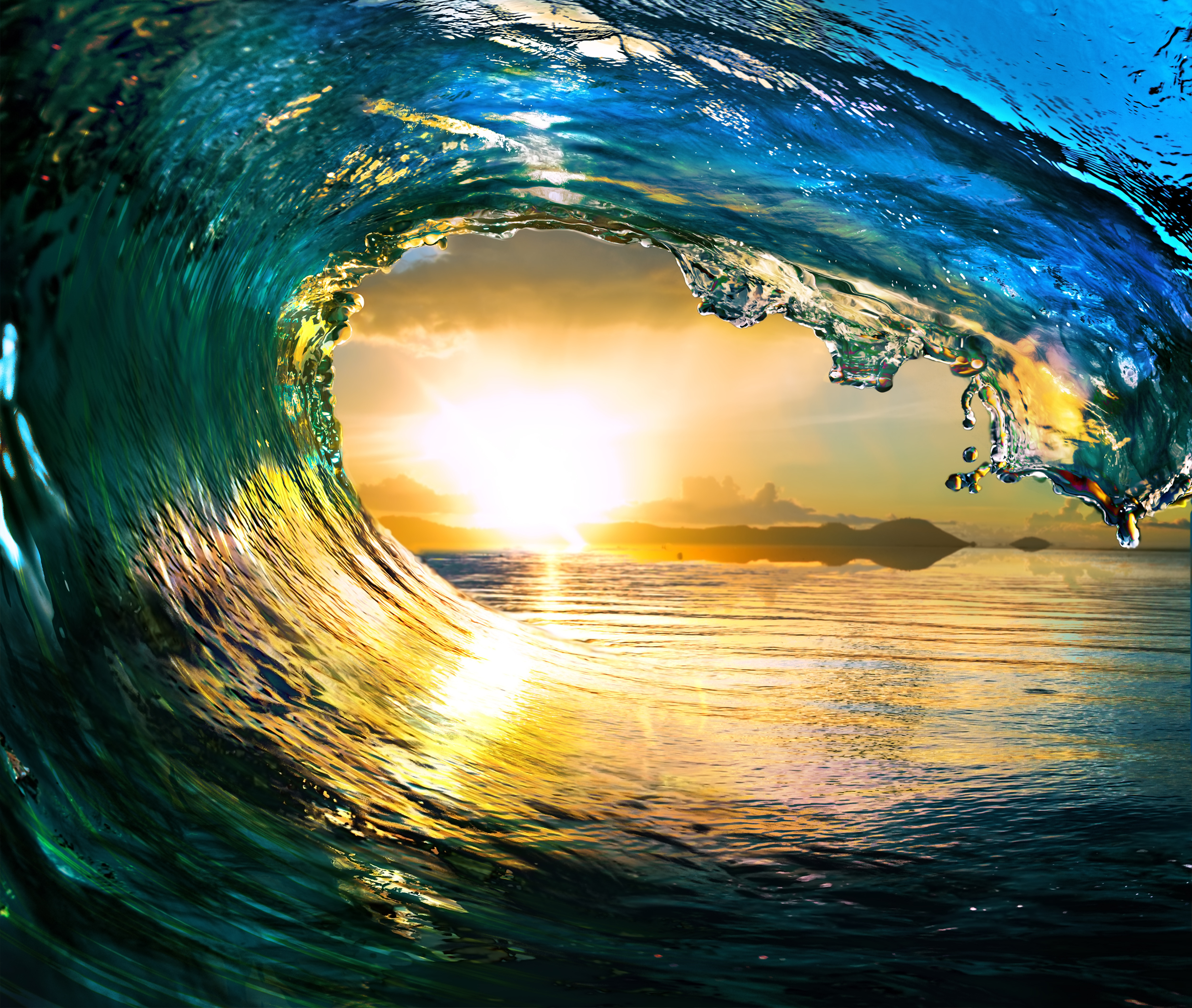 [48+] Tropical Waves Screensavers And Wallpaper On