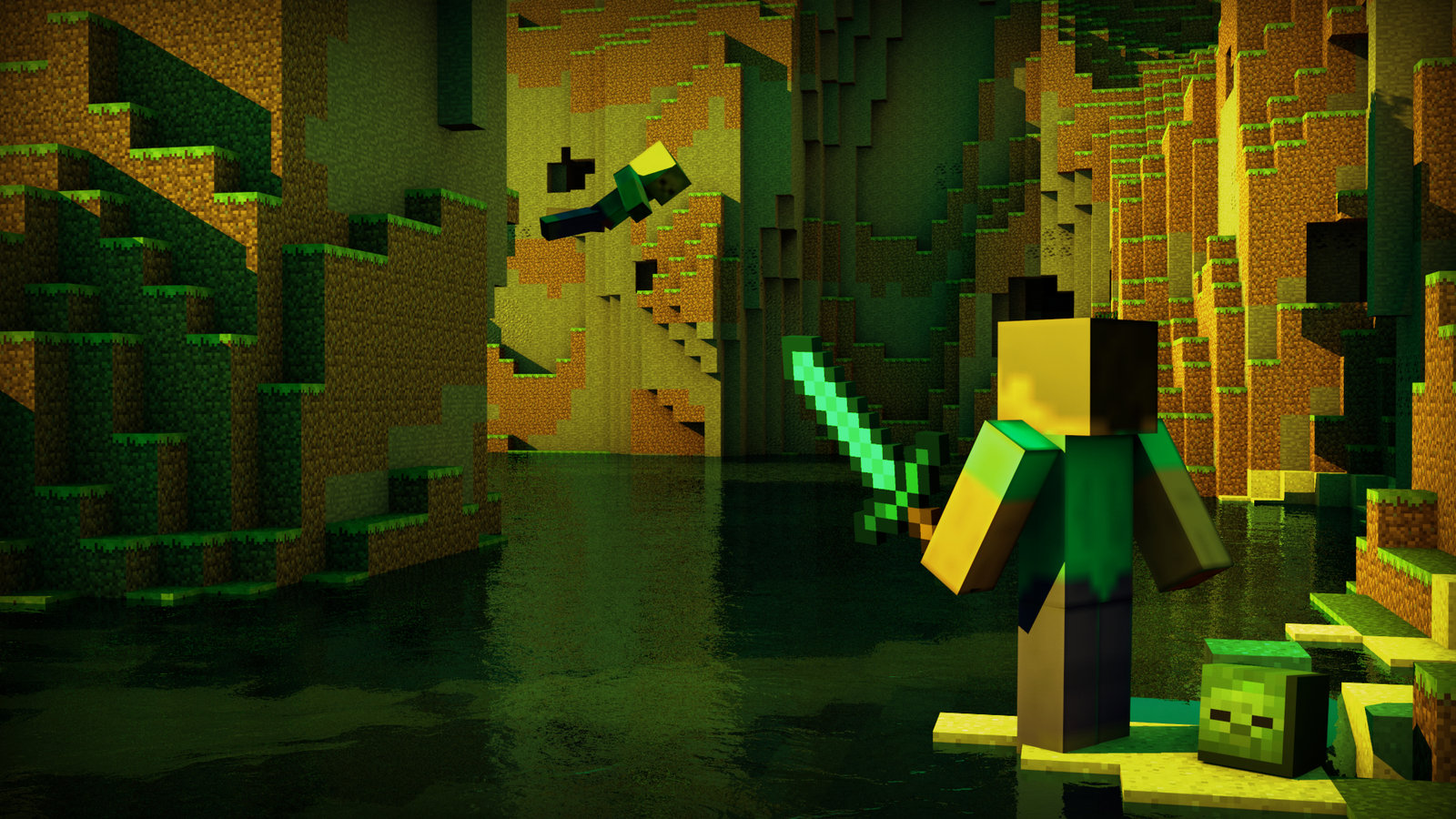 minecraft wallpaper by killer3276 fan art wallpaper games 2012 2015 1600x900