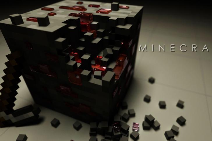 Minecraft Shaded Redstone Ore Wallpaper By Chrisl21 Fan Art Wallpaper 728x485