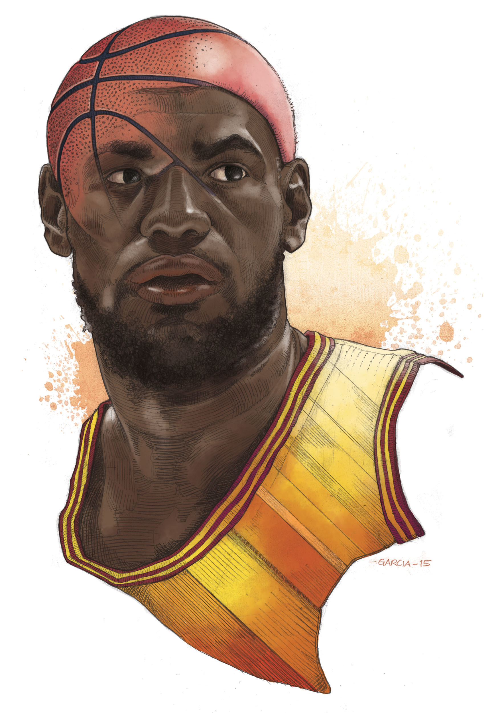 ArtStation   LeBron James Daniel Garcia 1768x2500