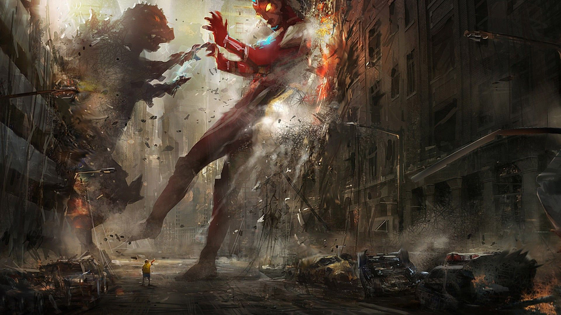 Iron Man vs Godzilla wallpaper   1070186 1920x1080