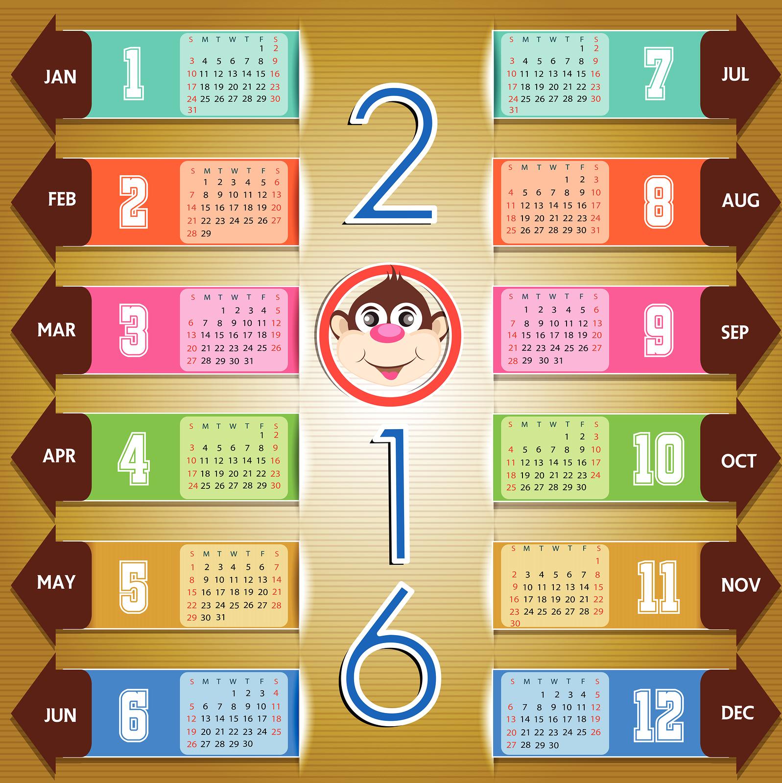 2016 Year Calendar Wallpaper Download 2016 Calendar by Month 1597x1600