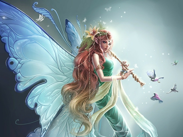 fairies fantasy art artwork flute Fantasy Wallpapers Desktop 600x450