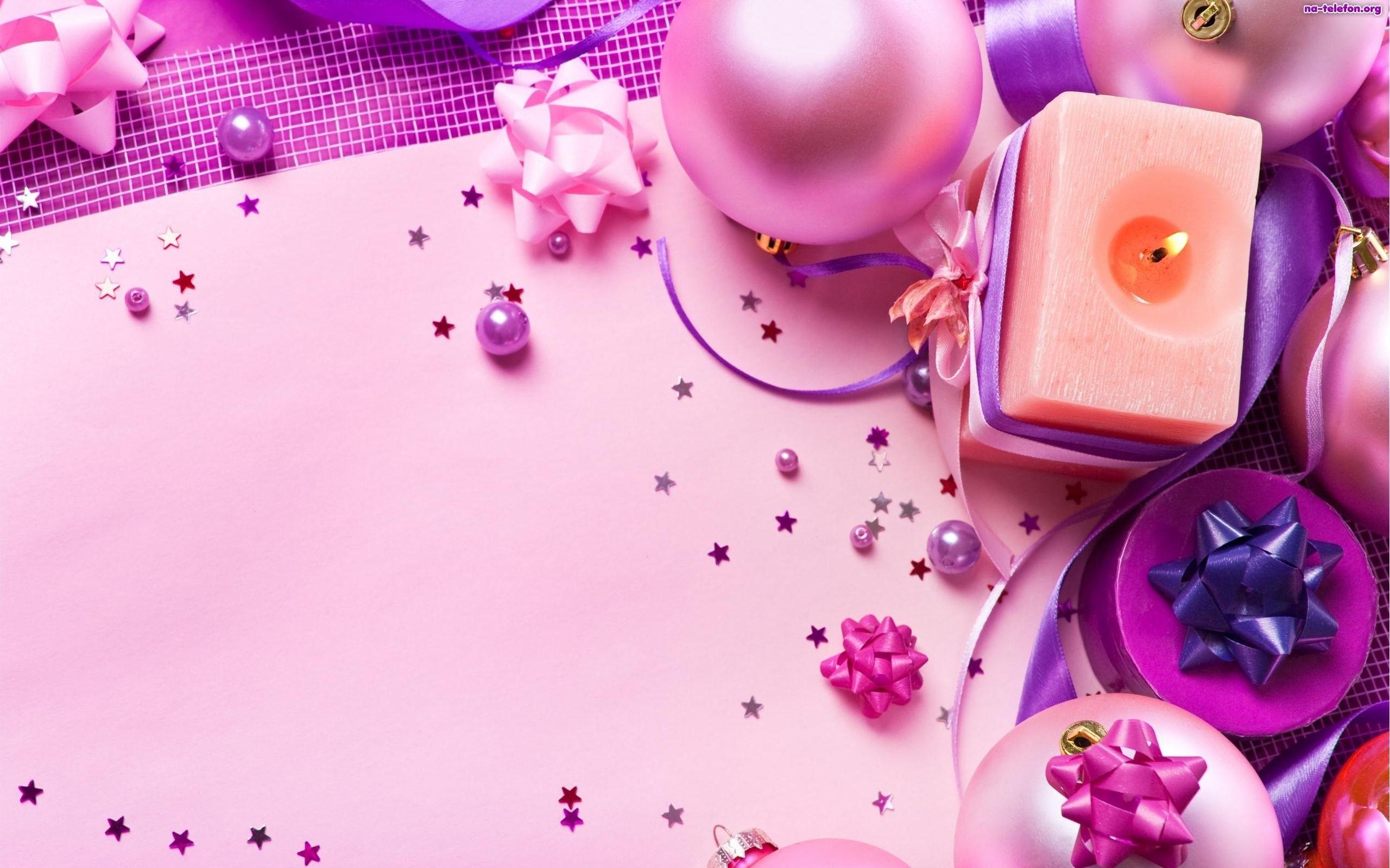 Pink Christmas Wallpaper ForWallpapercom 2560x1600