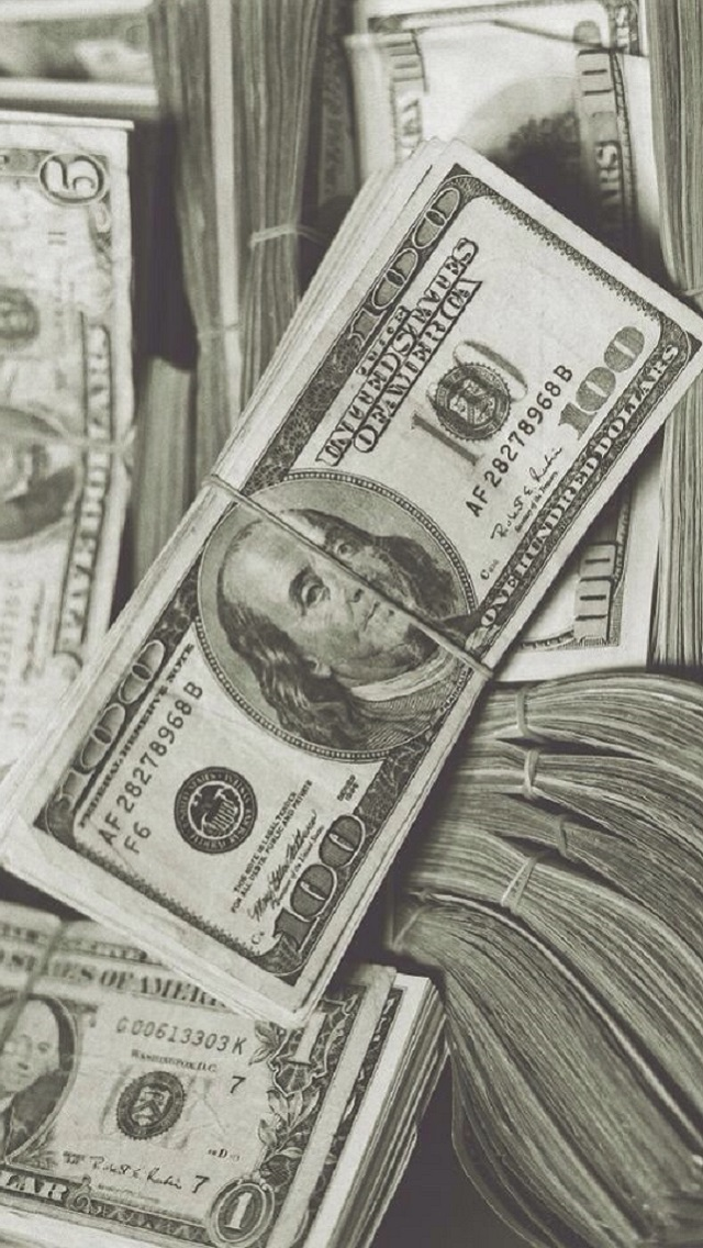 iPhone 5 Wallpaper Objects money dollars 640x1136