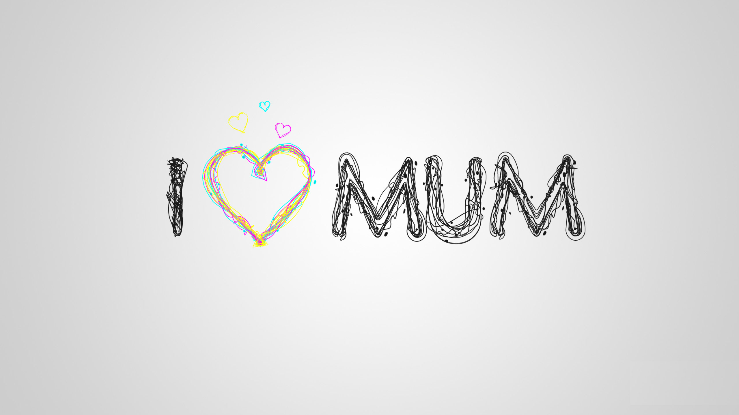 I Love Mom Wallpaper 2560x1440