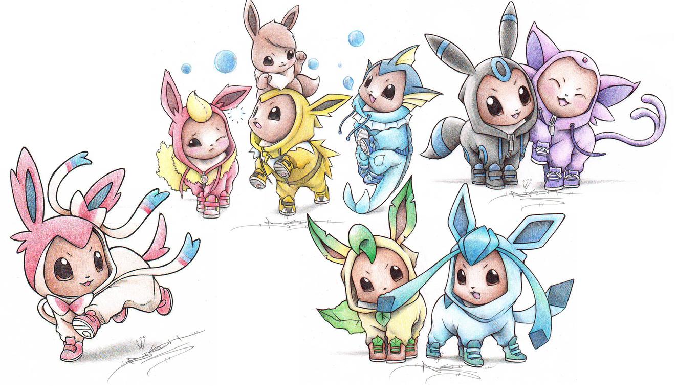 You can download Pokemon Eevee Human Genetic Mutation Wallpaper Hd in 1366x766