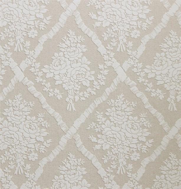 Floral Lattice Wallpaper R2655   Contemporary   Wallpaper   by Walls 614x640