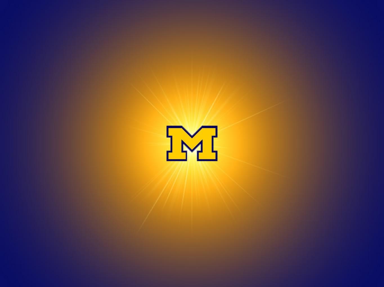 Michigan Glowing M Wallpaper 1 megabyte Wallpaper 1365x1023