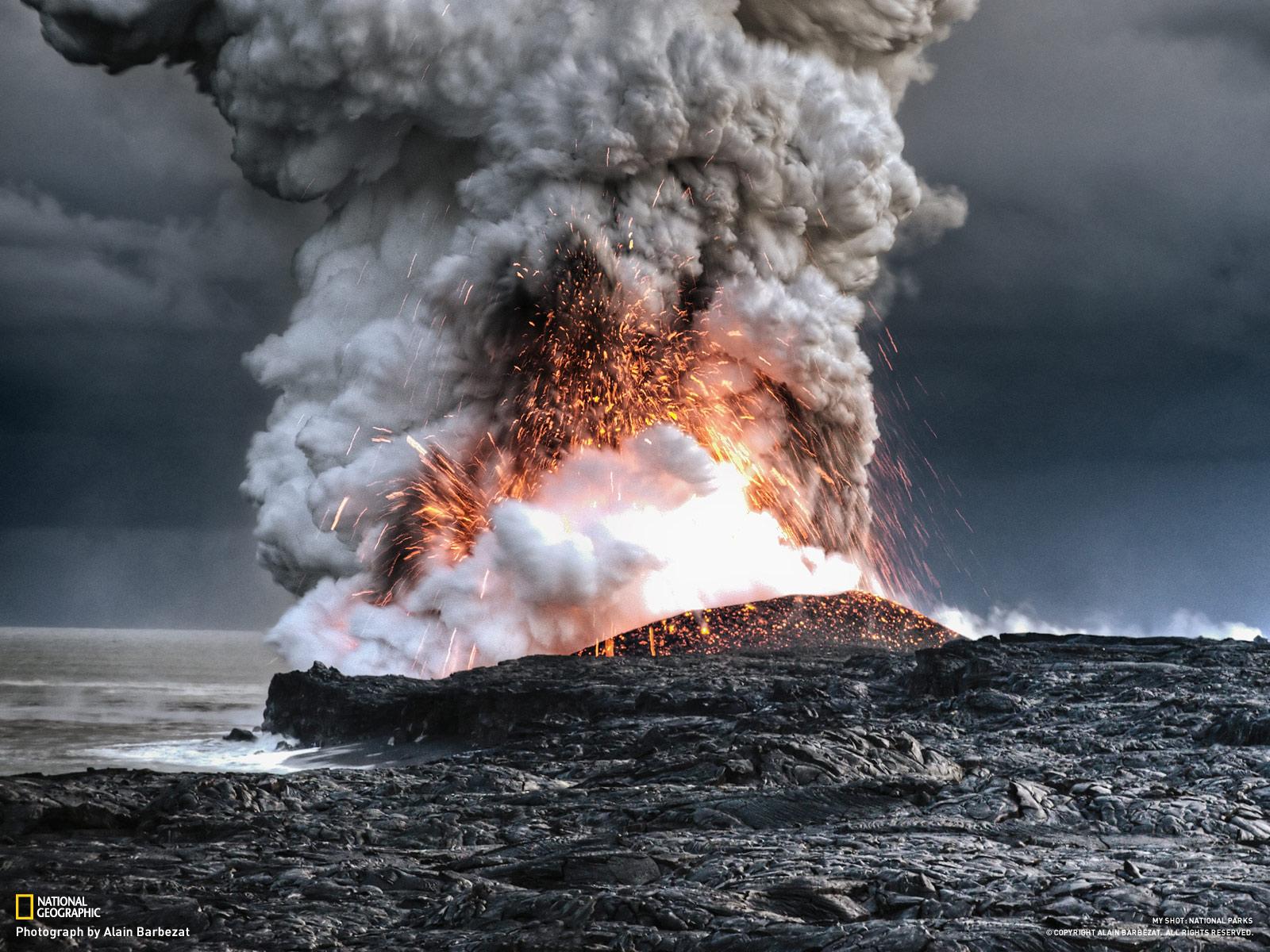 Yanarda Duvar Katlar HD Volcano Wallpapers Kaliteli Resim 1600x1200