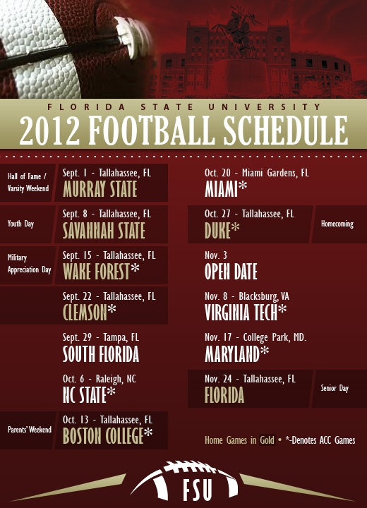 2012 fsu football schedule my school my heart fsu 520x720