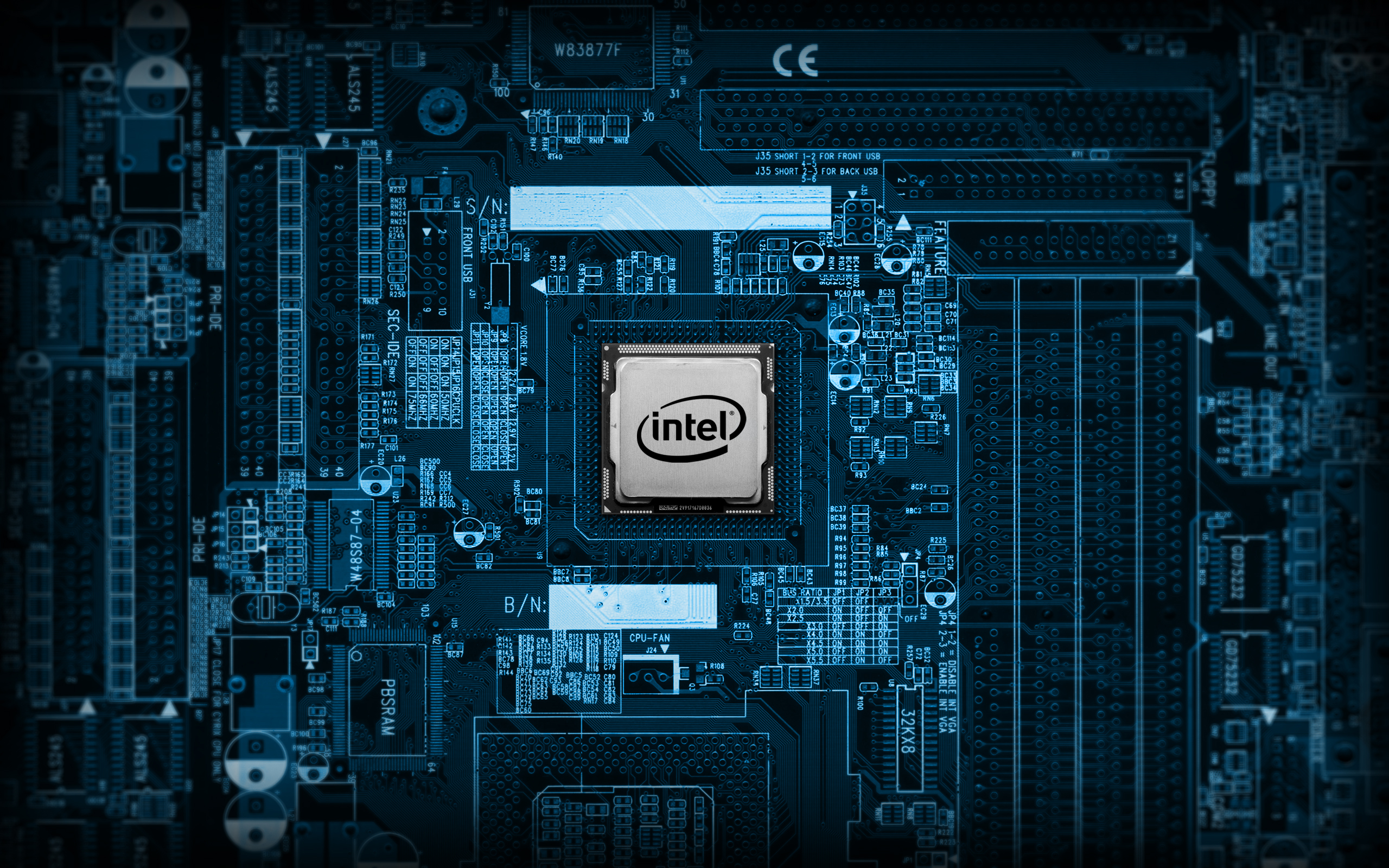 Intel Chip Wallpaper 2560x1600