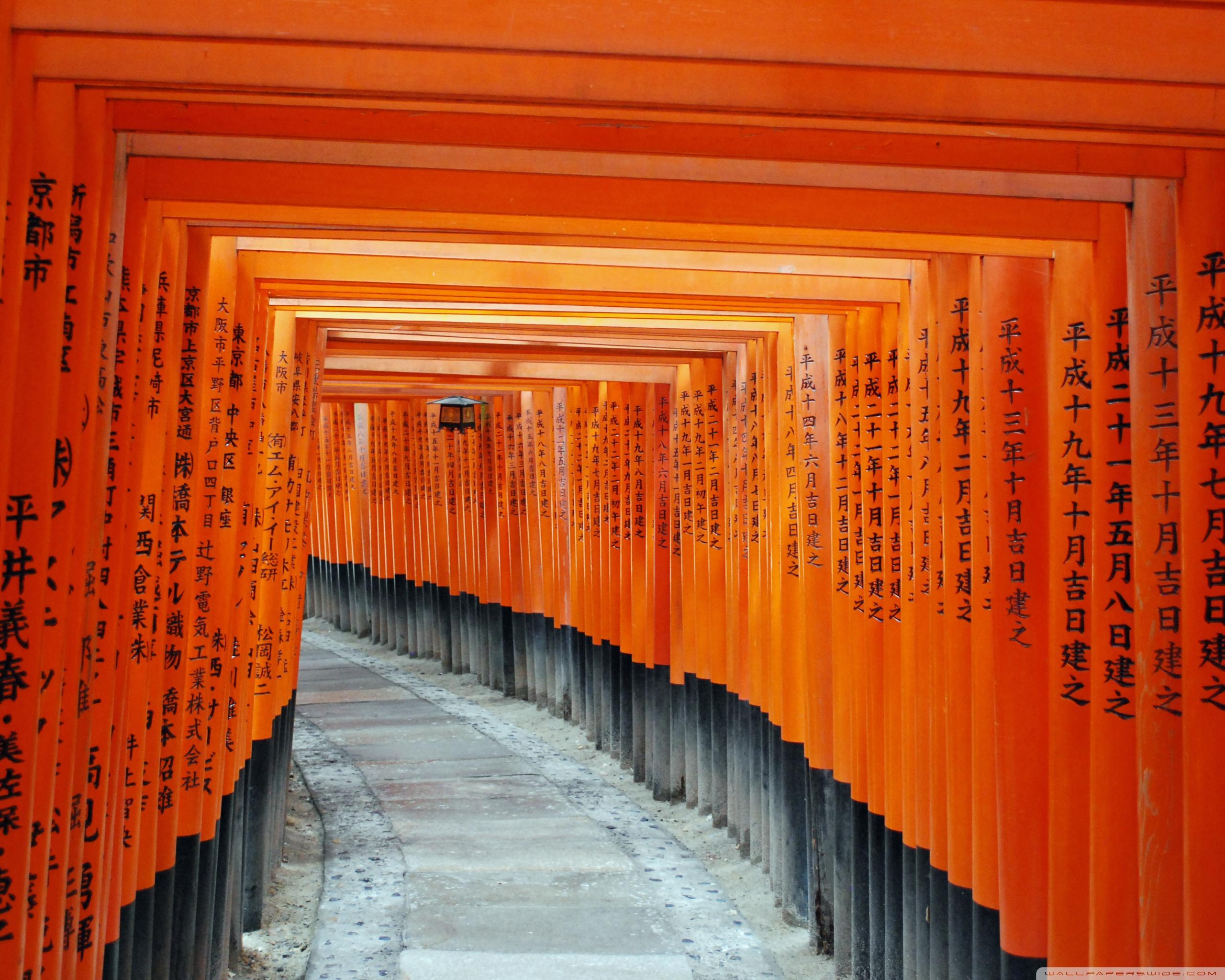 Fushimi Inari Taisha Kyoto Japan 4K HD Desktop Wallpaper for 2560x2048