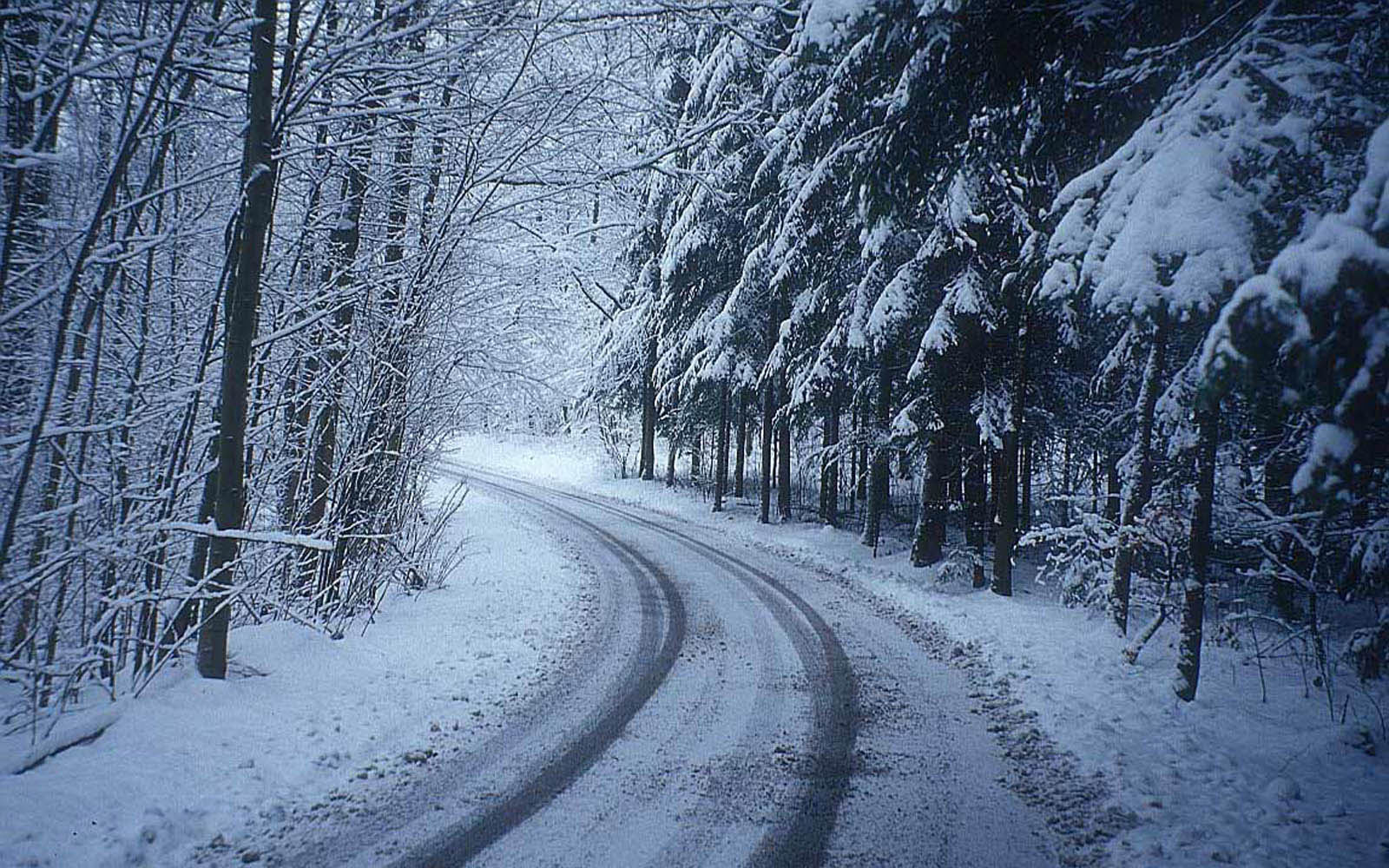 Desktop Wallpapers Winter Road Desktop Wallpapers 1600x1000
