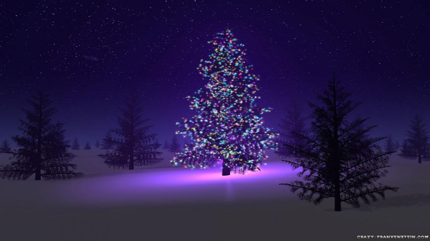 Christmas Night Tree HD Wallpapers 1366x768 Christmas Wallpapers 1366x768
