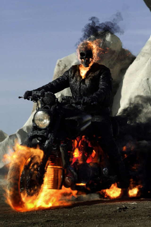 Ghost Rider Spirit of Vengeance Movie Poster Iphone 4 wallpaper 640x960