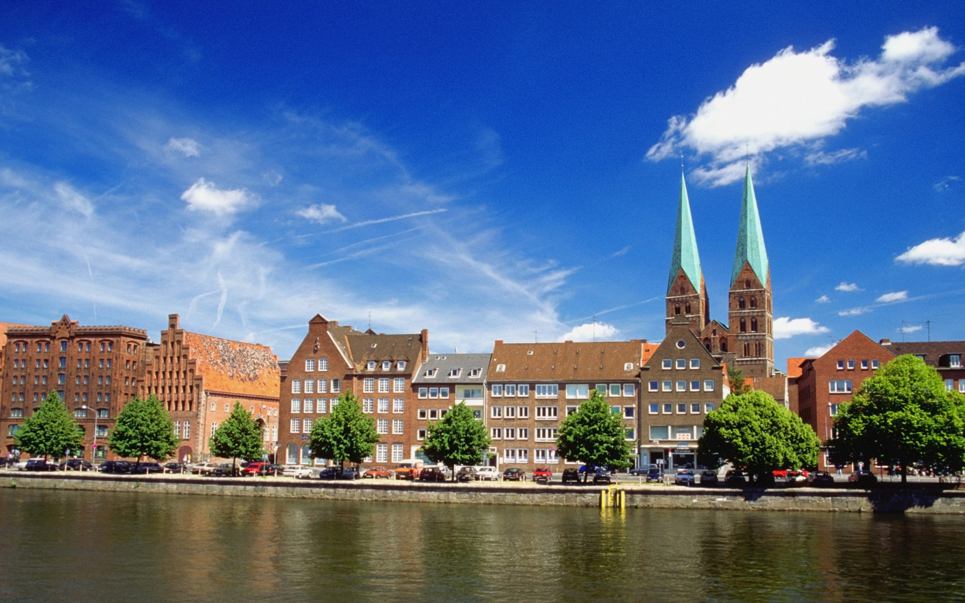 Trave River Germany Wallpapers HD Wallpapers 1920x1200