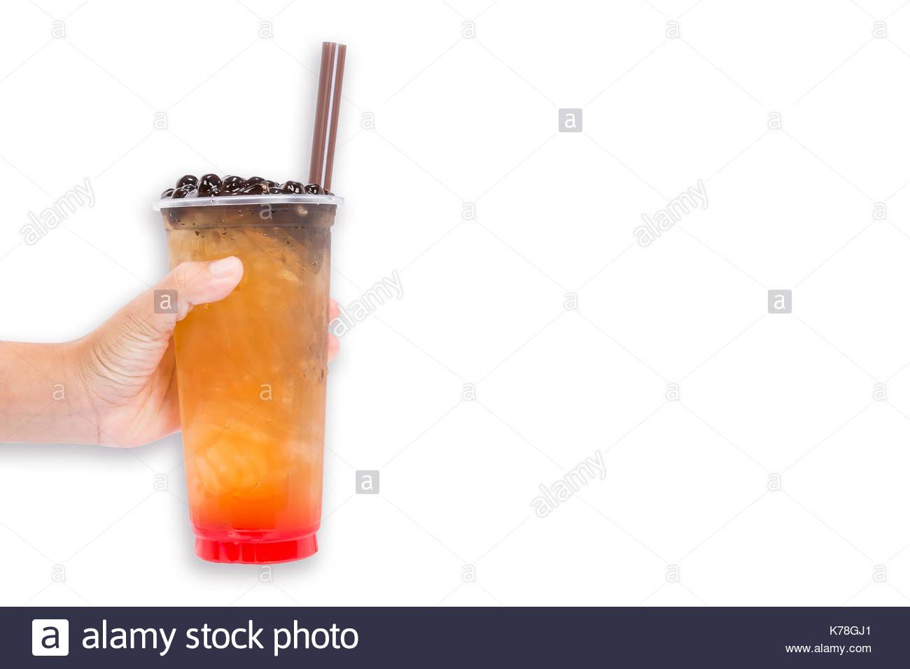 Boba Bubble tea isolated on white background Stock Photo 1300x956