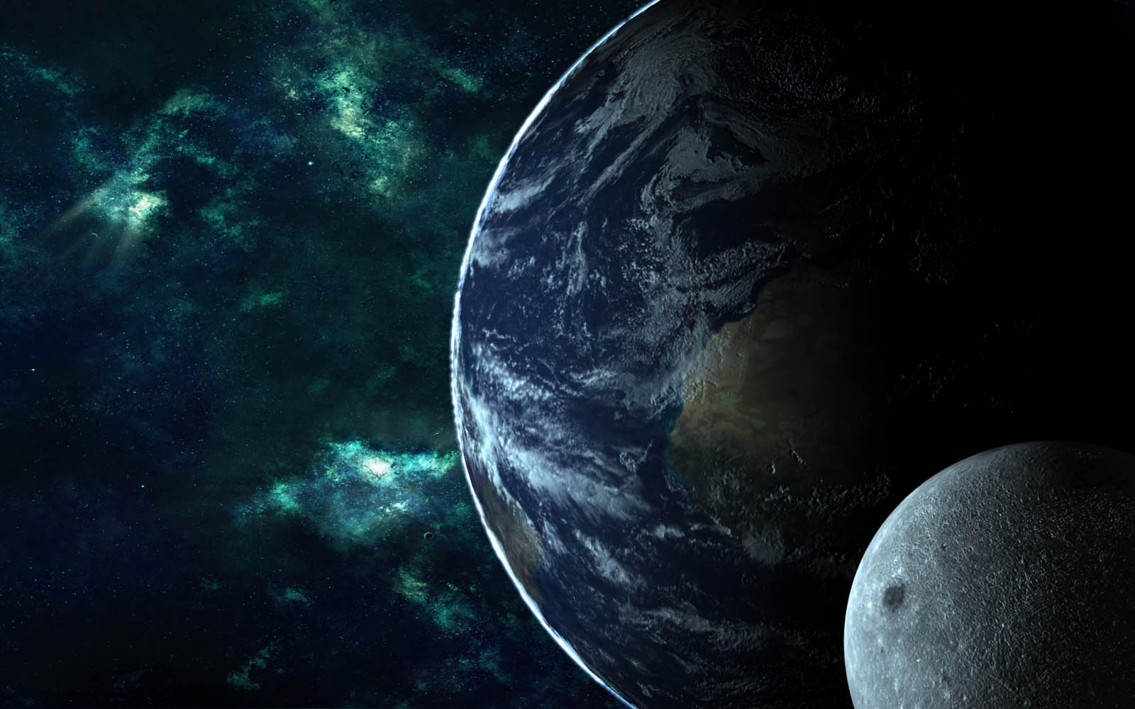 Earth And Moon Wallpapers BackgroundsPhotos Images and Pictures 1600x1000