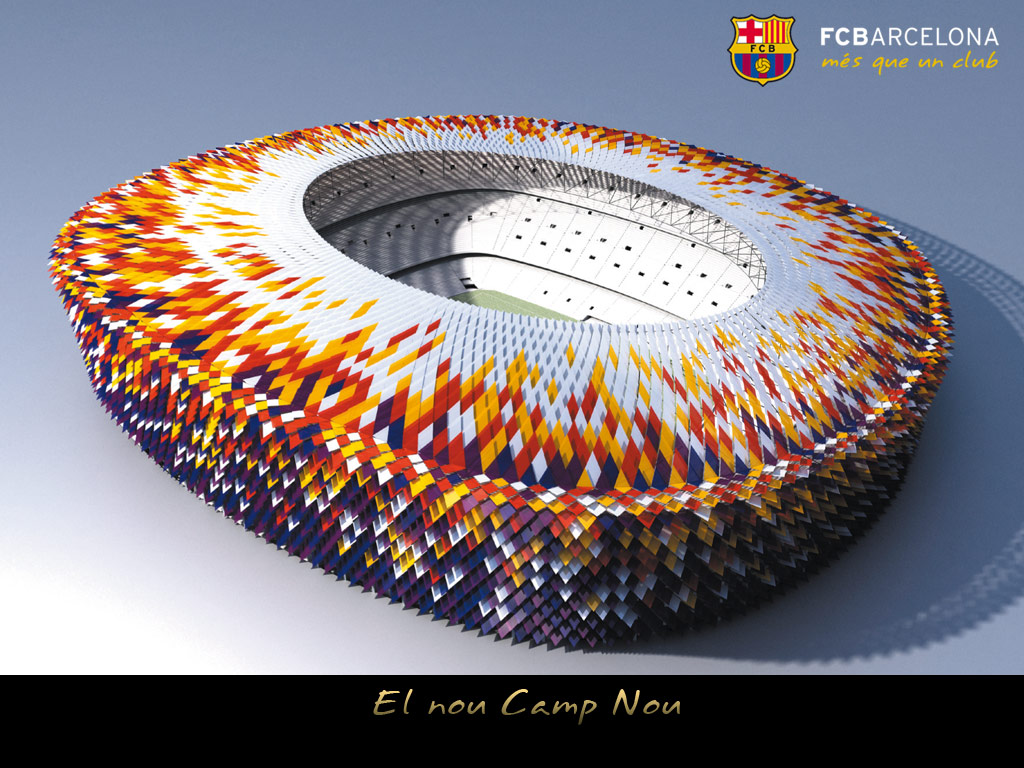 Wallpaper Camp Nou barcelona stadion barca foto camp nou 1024x768