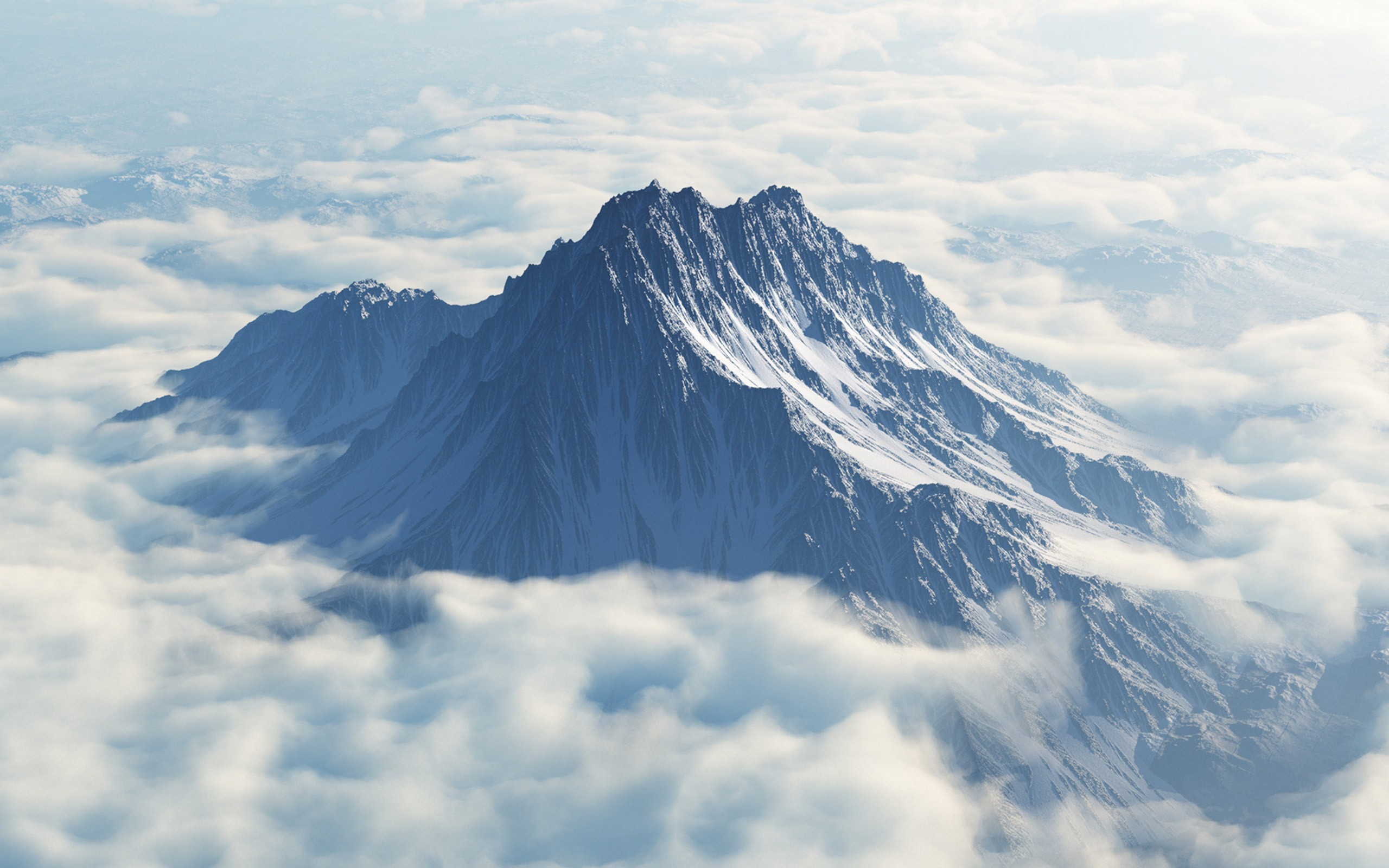 mountains clouds peak Mount Olympus Wallpapers 2560x1600