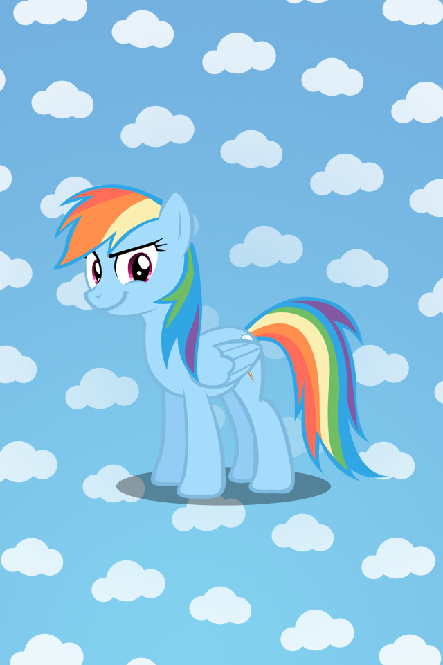 Rainbow Dash iPhone Wallpaper by t dijk 640x960