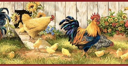 Hen House Wallpaper Border   Wallpaper Border Wallpaper inccom 525x273