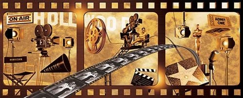 MOVIE THEMED WALL MURAL Decorating Pinterest 500x203
