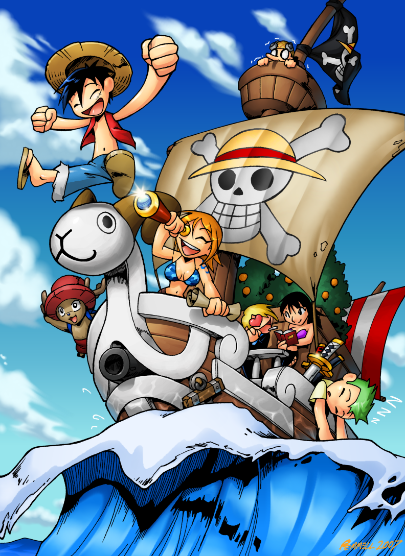 One Piece Chibi by FoxxFireArt 792x1089