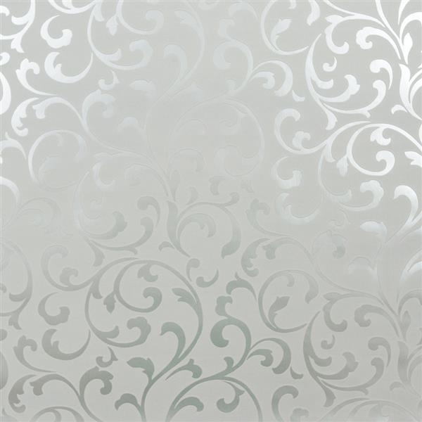 Light grey reflective silver embossed luxury velvet wallpaper 10m Roll 600x600