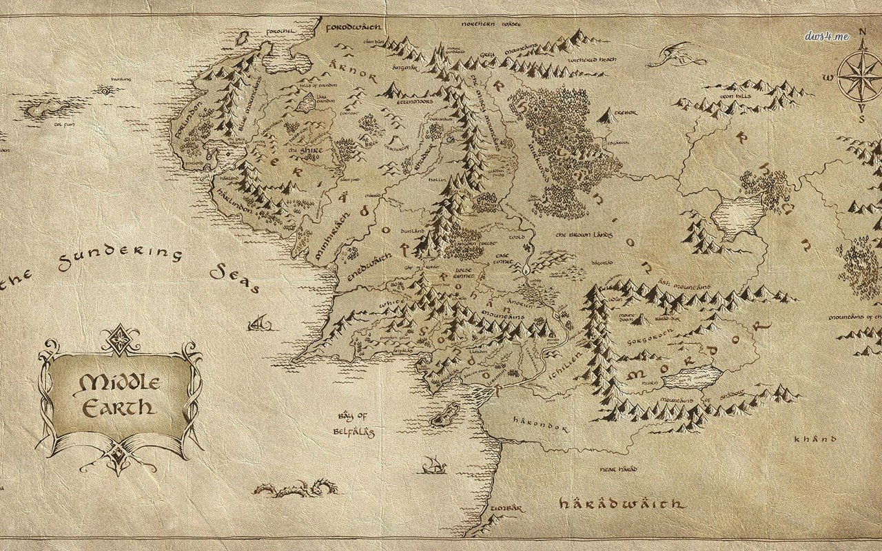 map   The Lord of The Rings wallpaper   Movie wallpapers   18255 1280x800