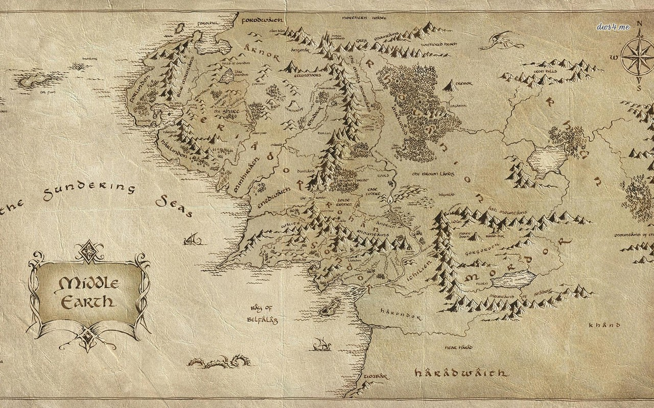 map - The Lord of The Rings wallpaper - Movie wallpapers - #18255