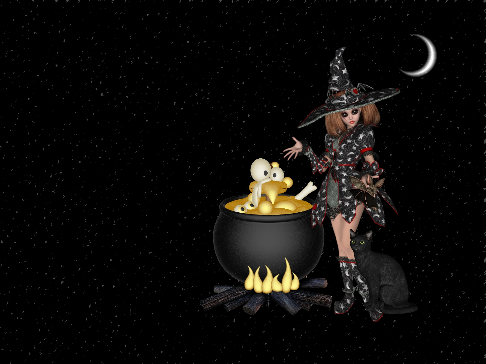 animated halloween wallpaper witches - photo #39