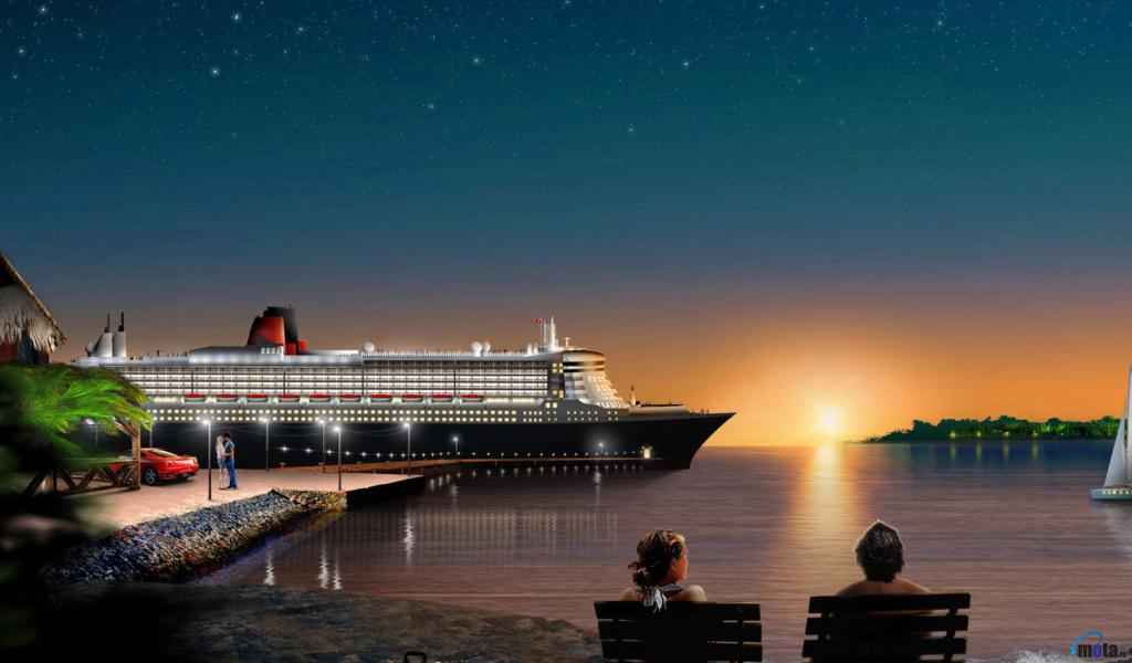 Download Wallpaper Cruise ship 1024 x 600 Desktop wallpapers and 1024x600